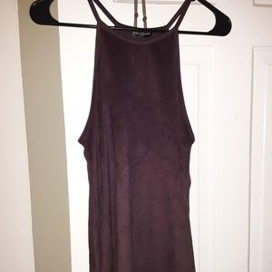 LIKE NEW Suede Tank Top